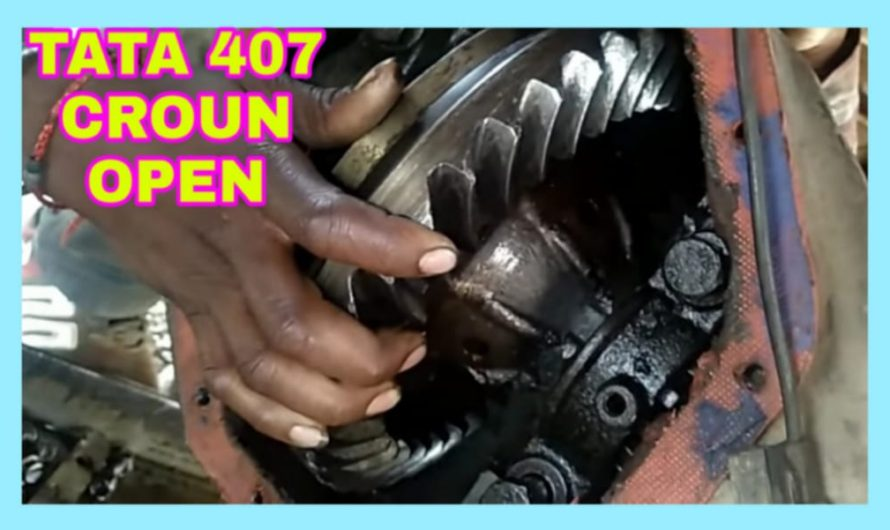 Open Crown Wheel Pinion From Tata 1210, Step by Step Details