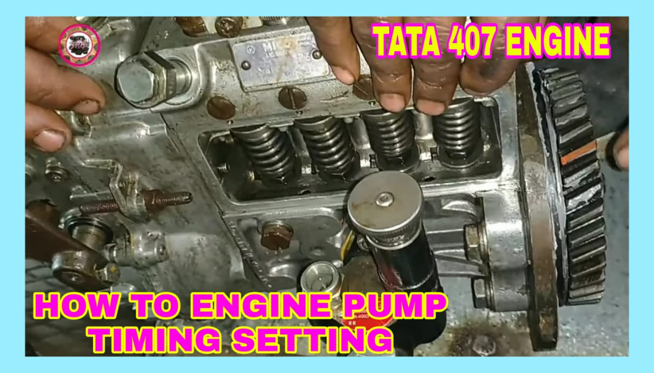 How To Engine Pump Timing And Pump Fitting Tata 407 Engine