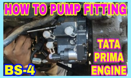 Tata Prima BS-4 Engine Pump Timing and Pump Fitting Step by.