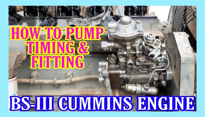 Pump Fitting and Timing Setting Tata Cummins BS3 Engine Step